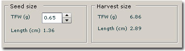 Winshell Seed and Harvest Size